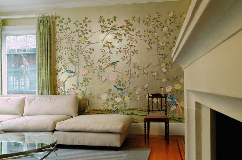 Interior Wall Coverings Ideas - Chinoiserie Wallpaper
