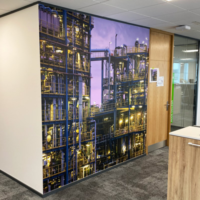 Graphic Wallpaper Murals - Twill Wallcovering Installations
