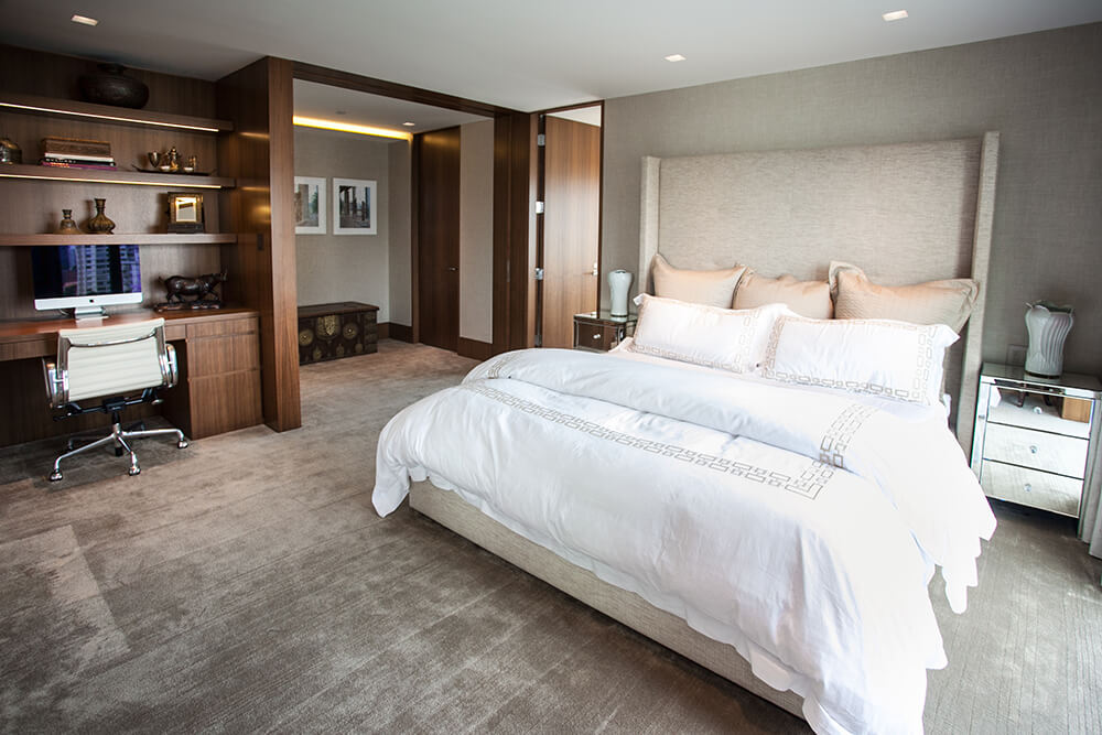 Luxury Fabric Guest Bedroom Installation