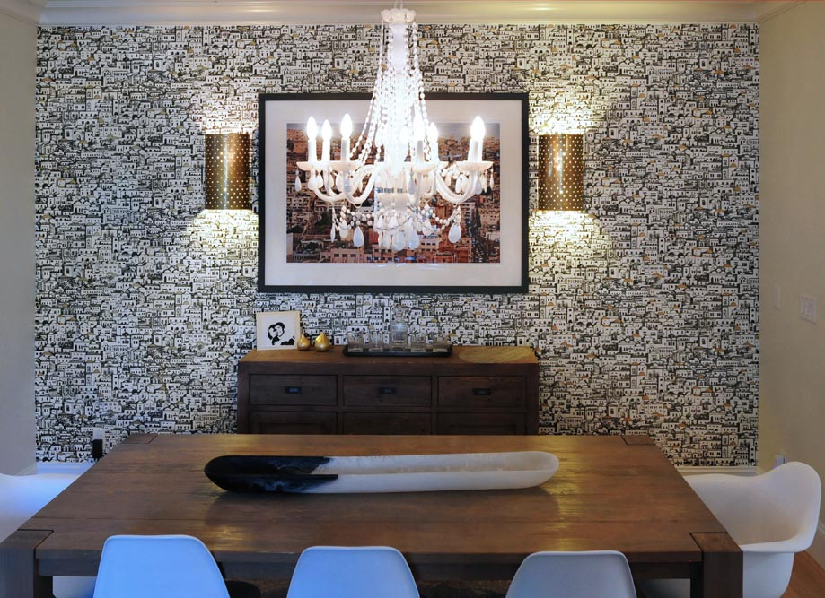Cole and Sons Wallpaper Installation Vancouver Residence